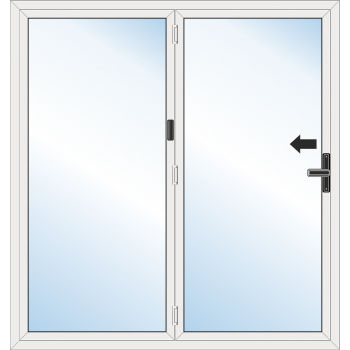 Bi Fold Door: 2 Leaf - Folding to left