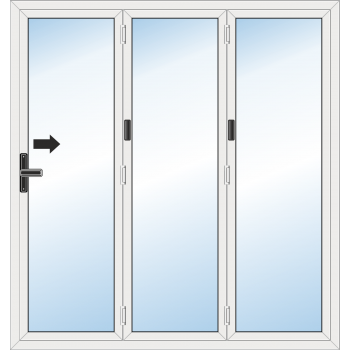 Bi Fold Door: 3 Leaf - Folding to right