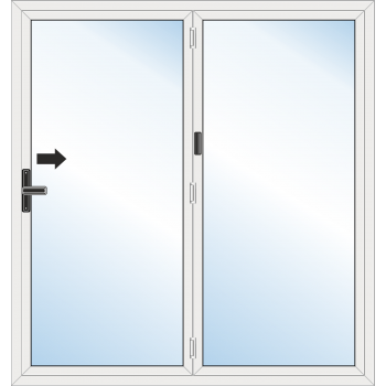 Bi Fold Door: 2 Leaf - Folding to right