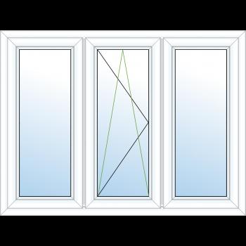 3 Pane Tilt & Turn Window